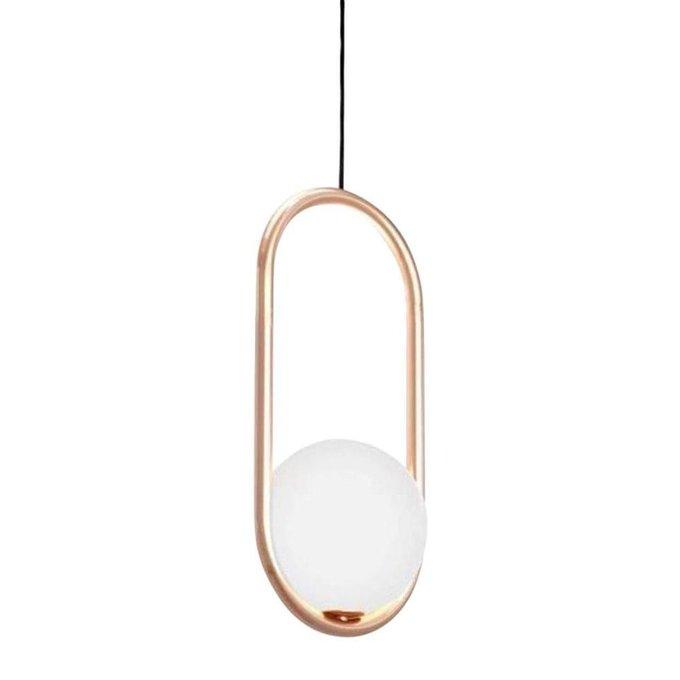 Подвесной светильник Кенти из металла и стекла