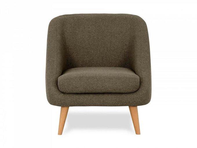 Кресло Corsica серо-коричневого цвета