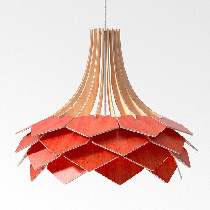 Подвесной светильник Squama Onion красный