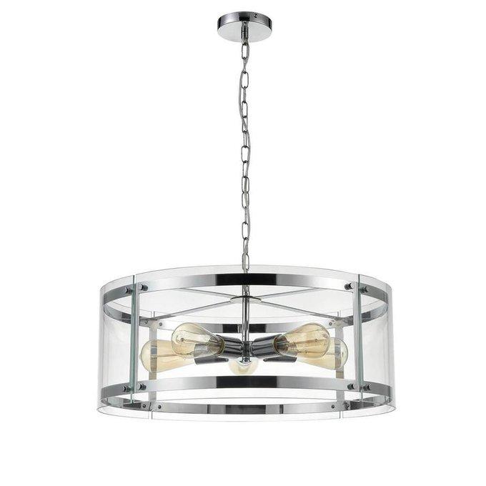 Подвесная люстра Tivoli с плафоном из металла и стекла