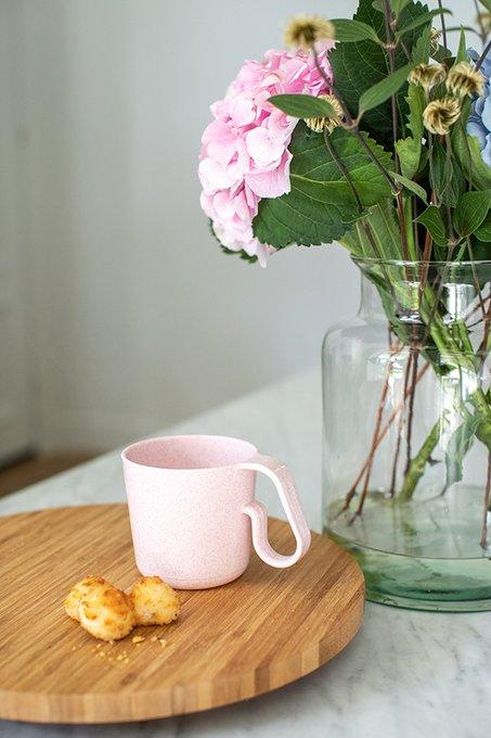 Кружка maxx organic 350 мл розового цвета