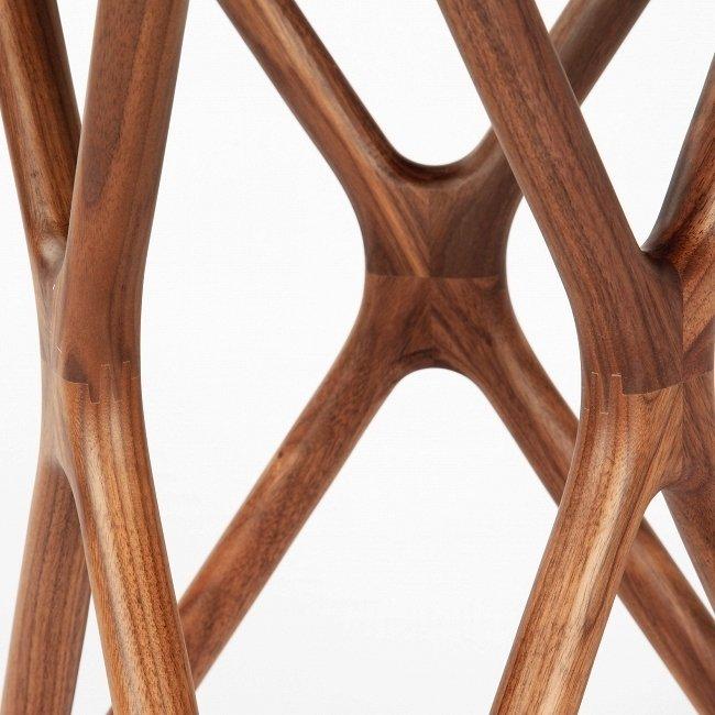 Кофейный столик Triple-X High с круглой стеклянной слошеницей