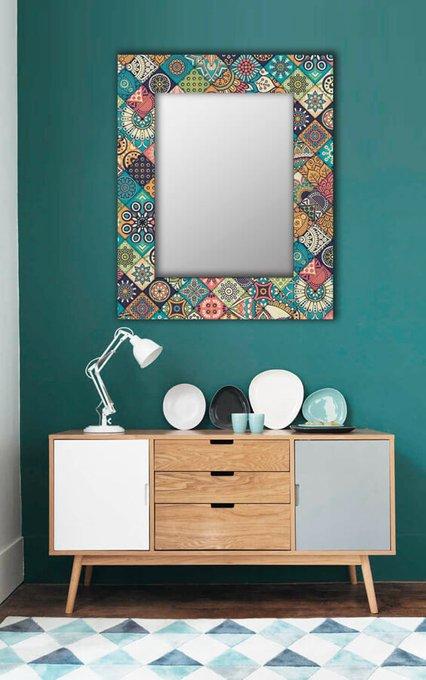 Настенное зеркало Арабская плитка 90х90