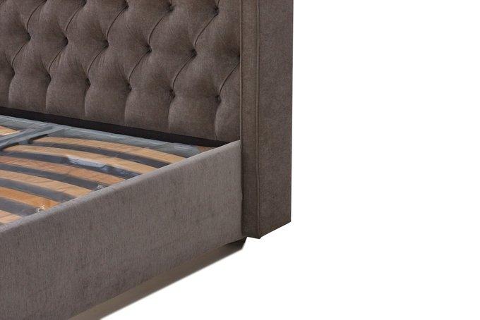 Кровать Рэйчел коричневого цвета 200х200 с ящиком для хранения