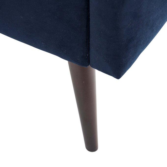 Кровать Pola ткмно-синего цвета 160х200