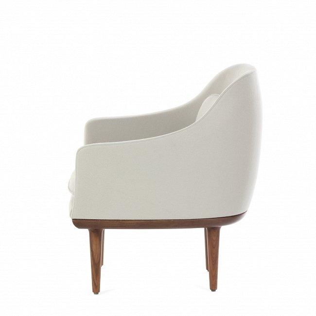 Кресло Lunar Lounge светло-серого цвета