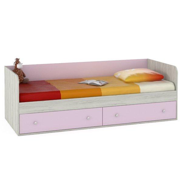 Одноярусная кровать Тетрис  ящиками 80х200