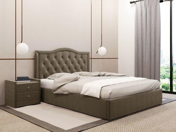 Кровать Герцогиня коричневого цвета 120х200 с подъемным механизмом