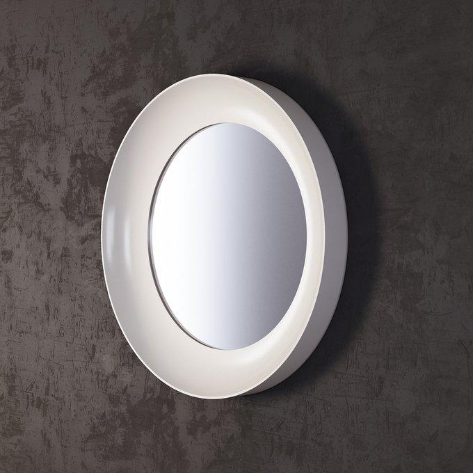 Зеркало Clayton белого цвета