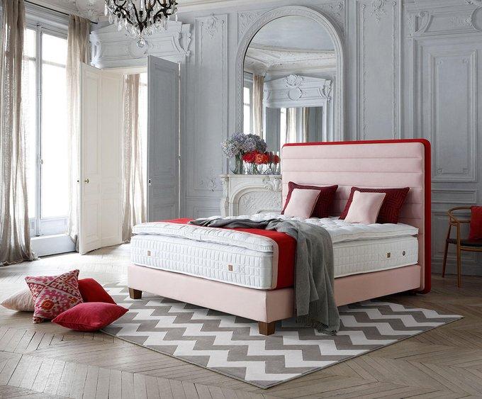 Кровать Lounge Headboard розового цвета 180х200