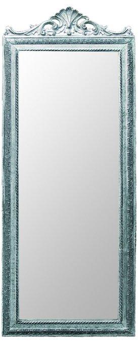 Настенное зеркало в посеребренной раме