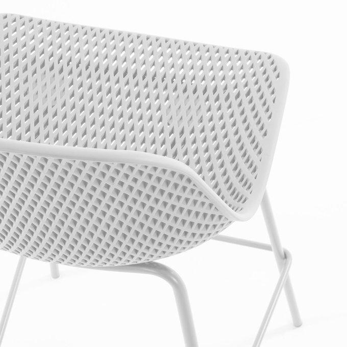 Барный стул Quinby White белого цвета