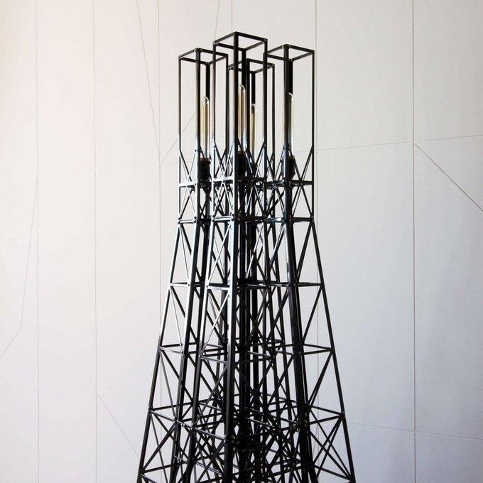 Металлический торшер башня Кууп