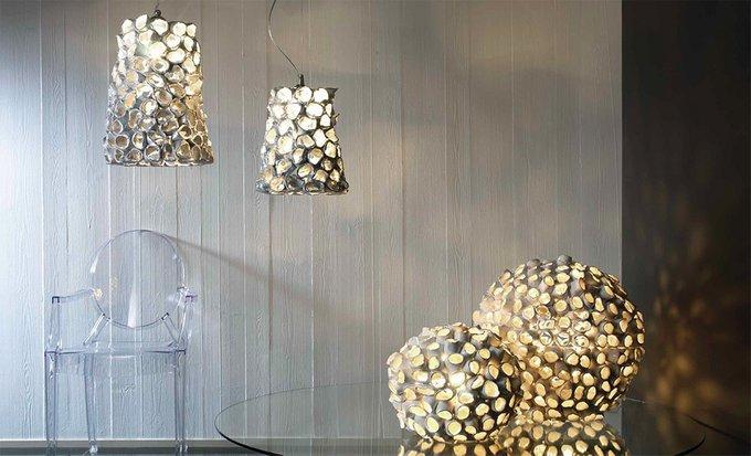 """Настольная лампа Stylnove Ceramiche """"Reef"""" белая"""