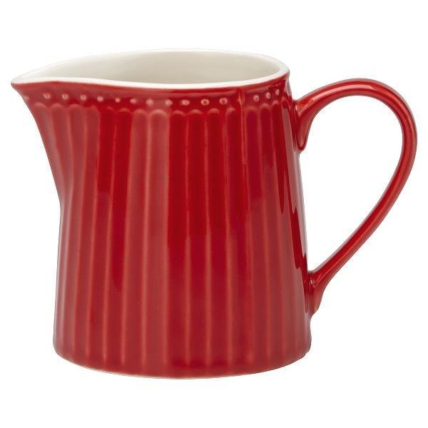 Фарфоровый молочник Alice red красного цвета