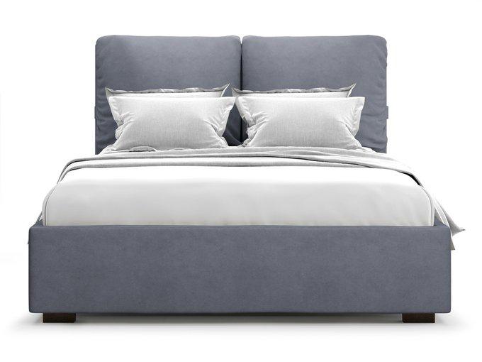 Кровать Trazimeno 160х200 с подъемным механизмом серого цвета