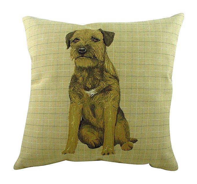 Подушка с принтом Border Terrier