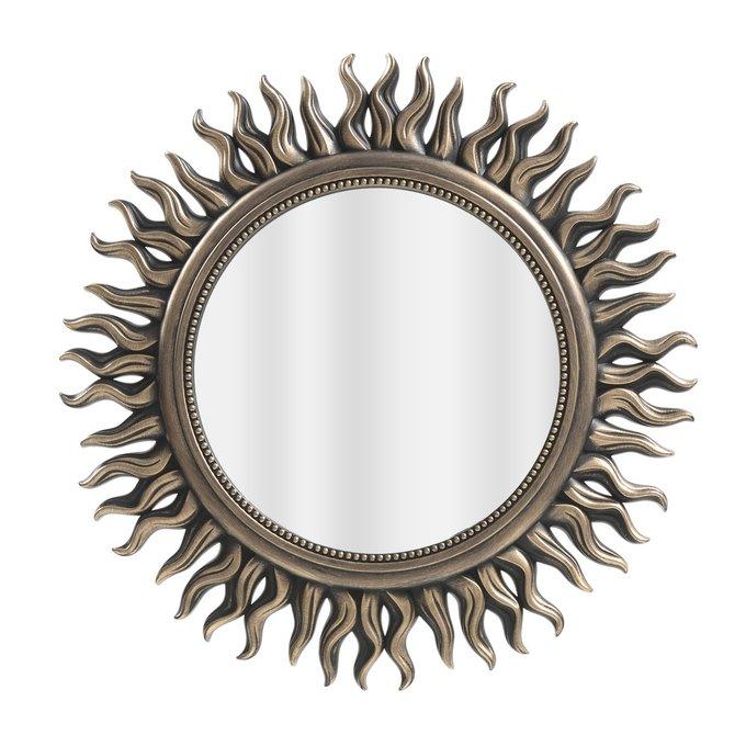 Настенное зеркало в раме из пластика