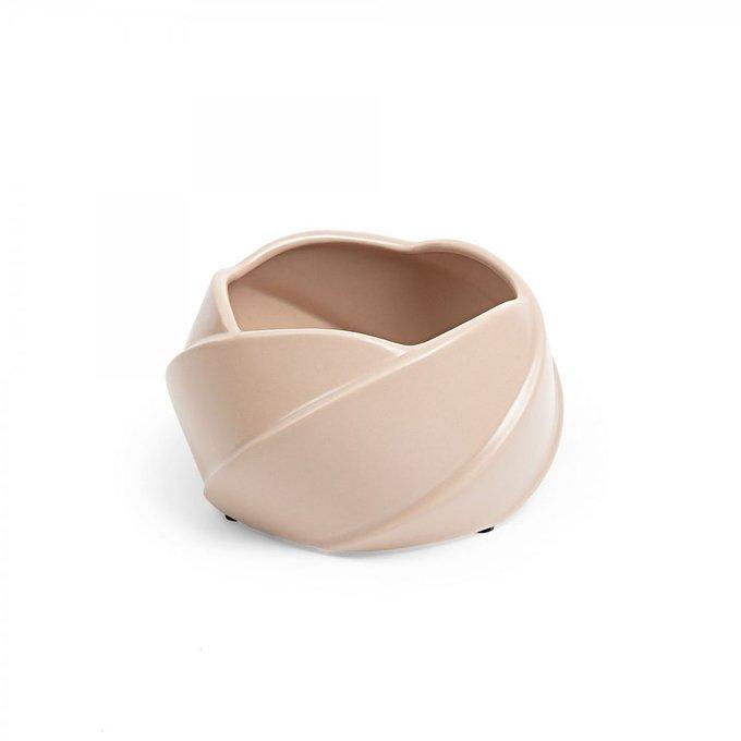 Кашпо керамическое Rossa розового цвета