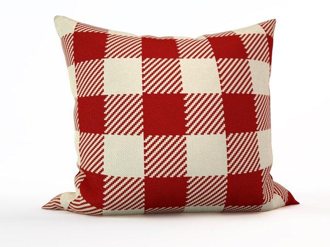 Декоративная подушка: Красные квадраты