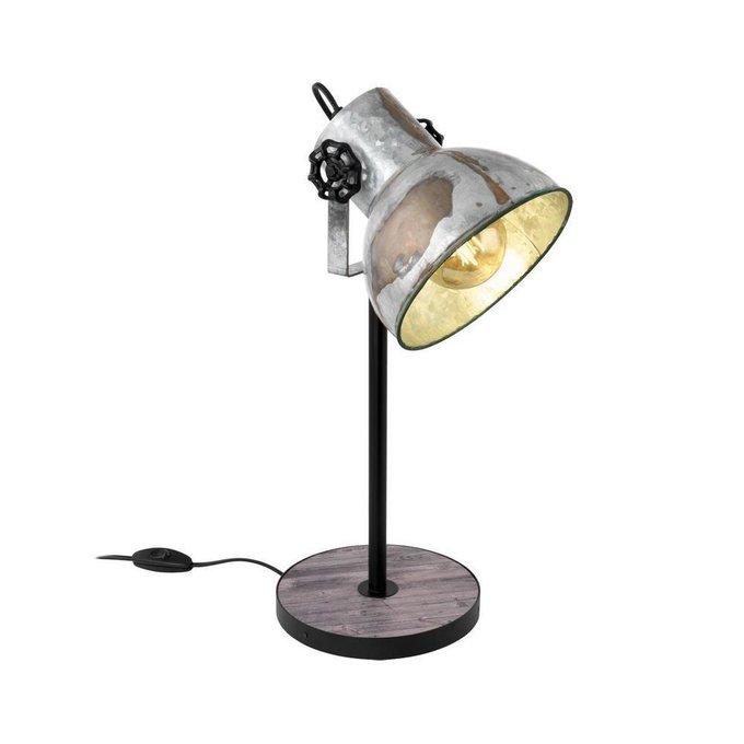 Настольная лампа Barnstaple с серым плафоном