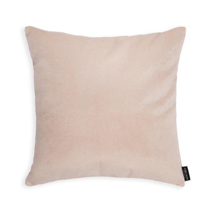Декоративная подушка Lecco Light Beige бежевого цвета