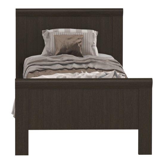 Кровать Магна 90х200 темно-коричневого цвета
