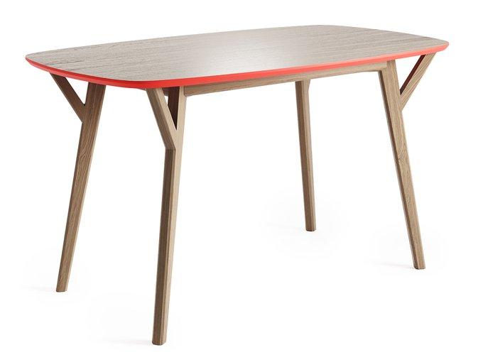 Обеденный стол Proso осветлённый дуб / коралловый