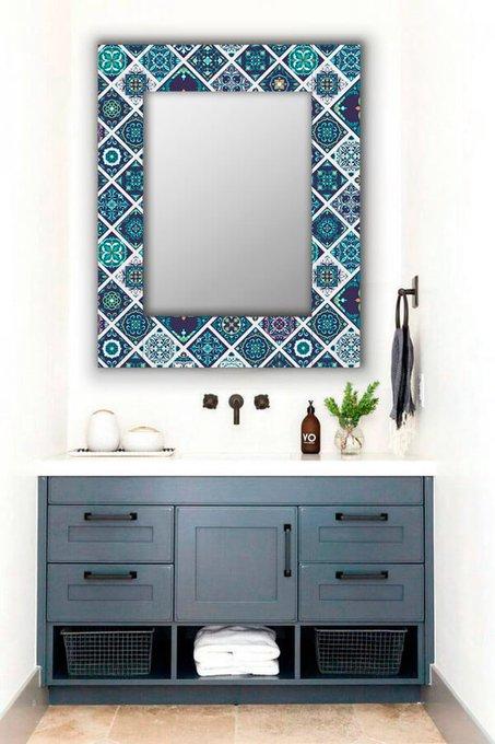 Настенное зеркало Португальская плитка 50х55