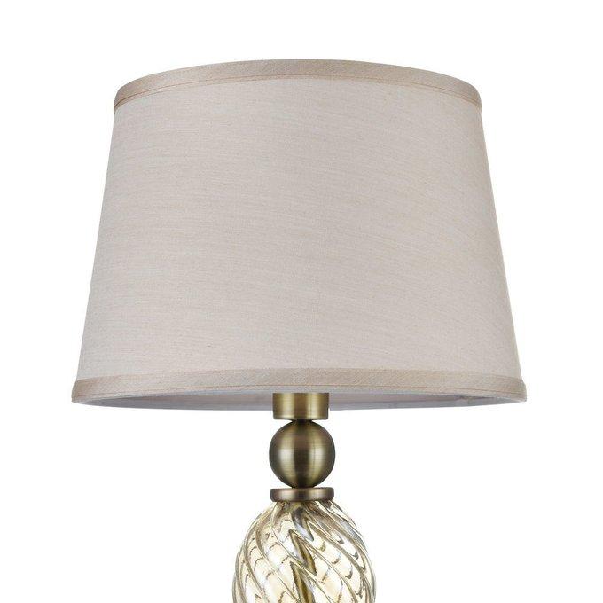 Настольная лампа Murano с бежевым абажуром