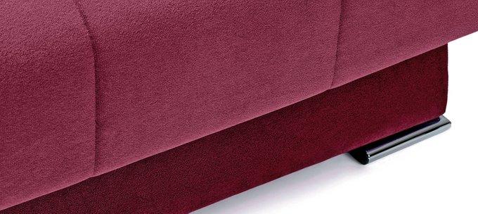 Угловой диван с подлокотниками Дудинка Galaxy красного цвета