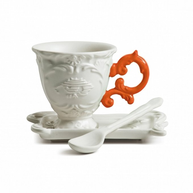 Кофейная пара I-Coffee с оранжевой ручкой