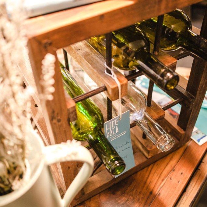 Подставка для вина Мини из массива тика