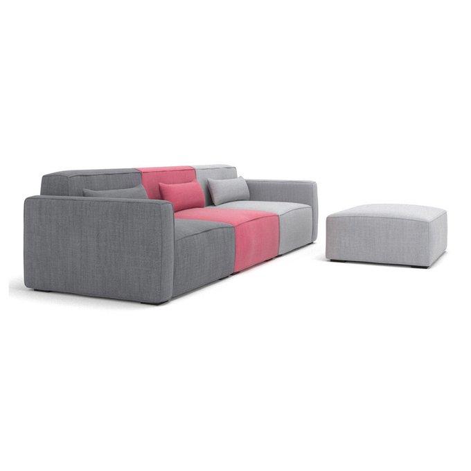 Модульный диван Cubus серо-розового цвета