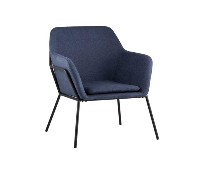Кресло Шелфорд темно-синего цвета