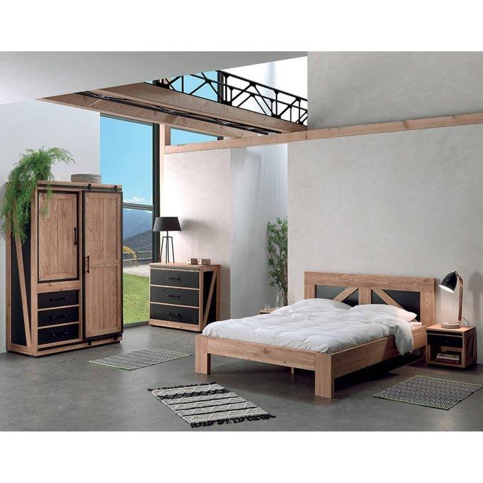 Кровать Yatelei из массива сосны 140х200