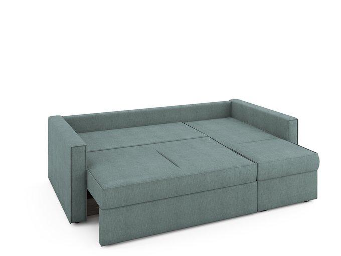 Угловой раскладной диван Macao правый мятного цвета