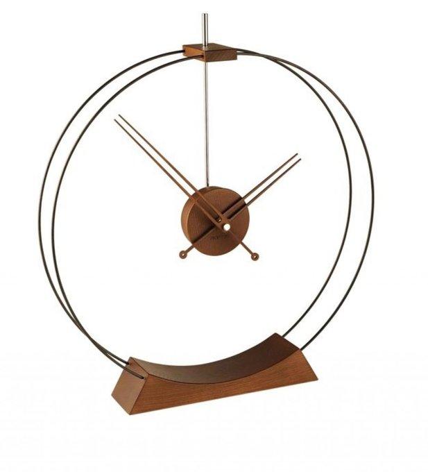 Дизайнерские настольные часы Aire с корпусом и стрелками из дерева