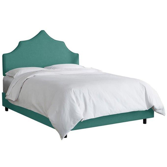 Кровать Camille Light Teal бирюзового цвета 160х200