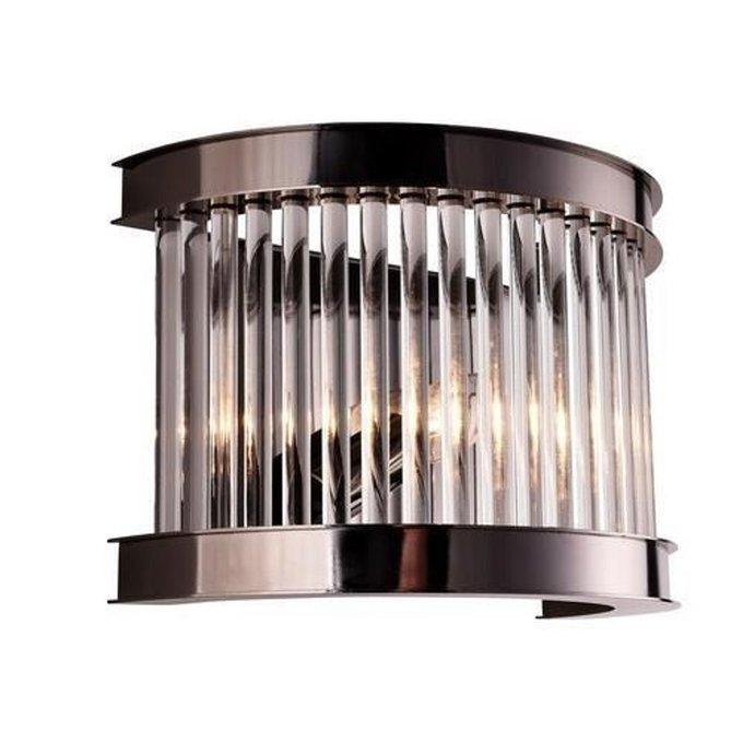 Настенный светильник из метала и хрусталя