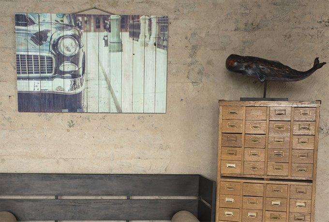 Картина на дереве Ретро автомобиль 80х120 см