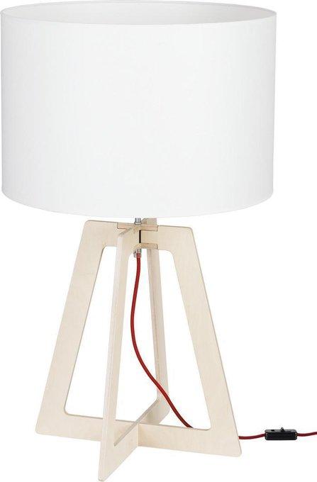 Настольная лампа Across с белым абажуром