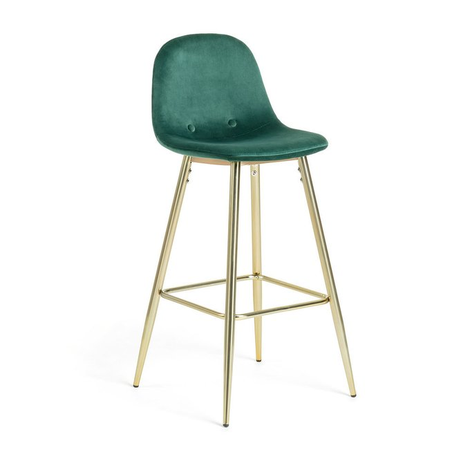 Барный стул Nilson темно-зеленого цвета