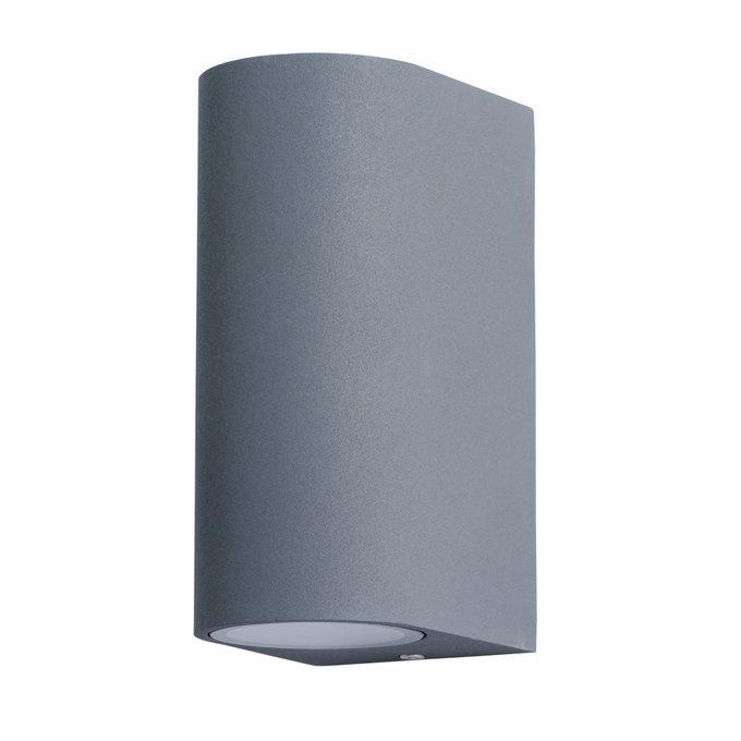 Уличный настенный светильник серого цвета