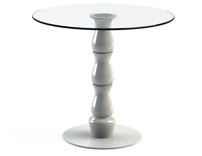 """Стол обеденный """"VESPER White"""" со столешницей из закаленного стекла"""