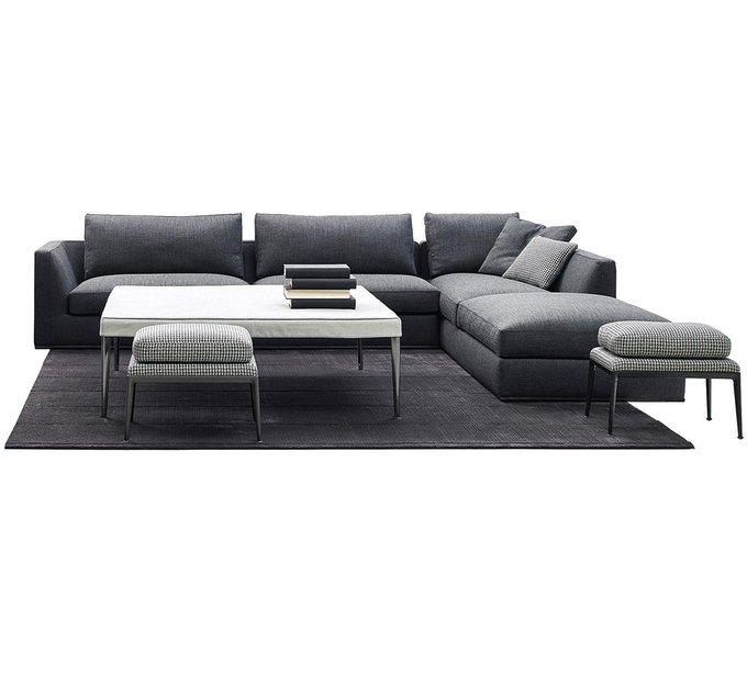 Угловой диван Richard Sofa серого цвета