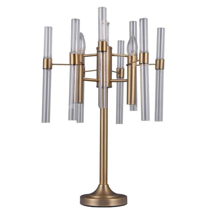 Настольная лампа Альгеро из металла и стекла