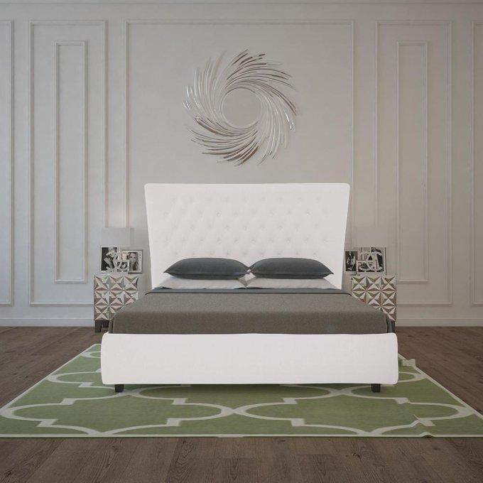 Кровать QuickSand Велюр Молочный 180х200