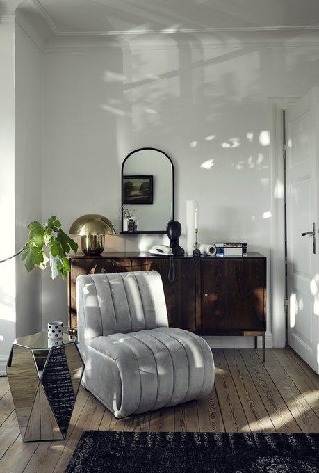 Кресло Asti с обивкой из серого вельвета