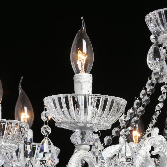 Подвесная люстра Свеча из хрусталя